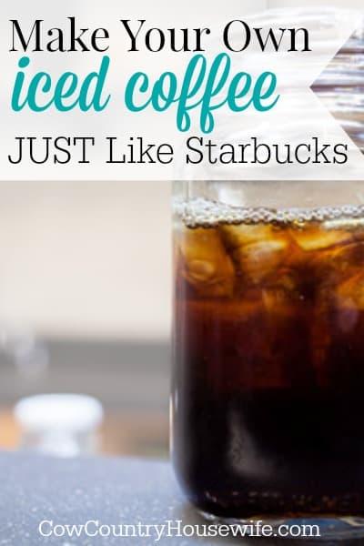 Starbucks Iced Coffee Maker Recipe : Make Iced Coffee Just Like Starbucks
