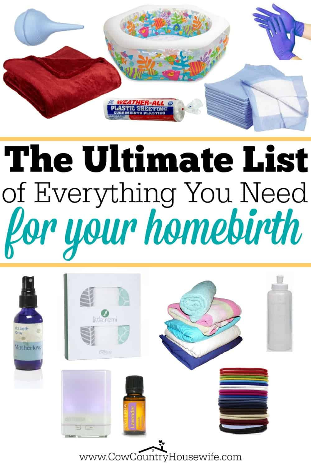 The ultimate list of everything you need for your homebirth for Things you need for a house