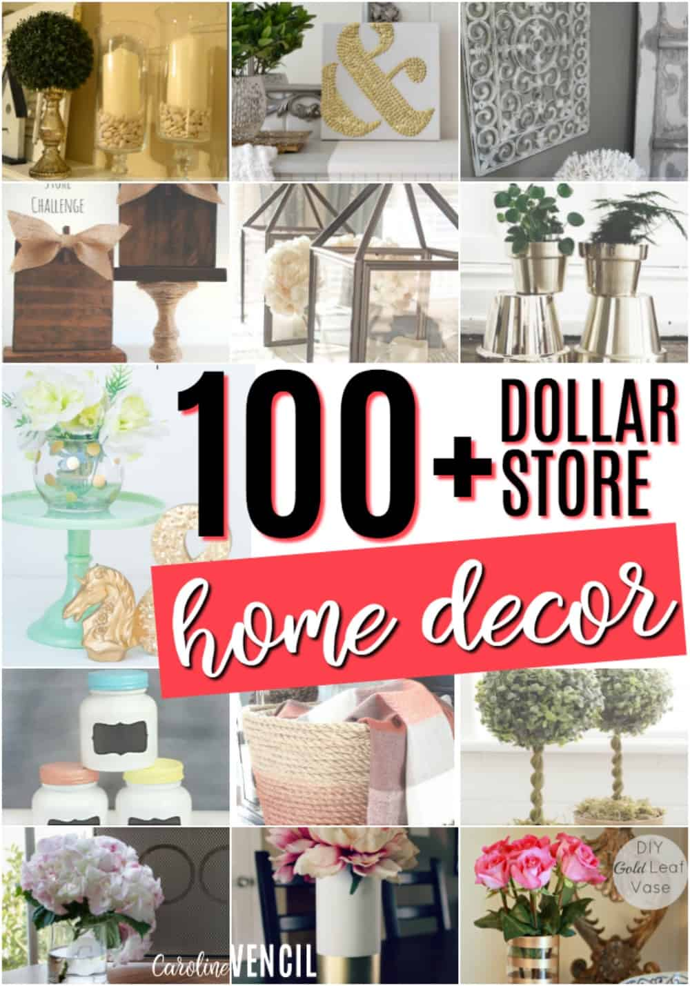 Dollar store home decor ideas caroline vencil for Store for home decor