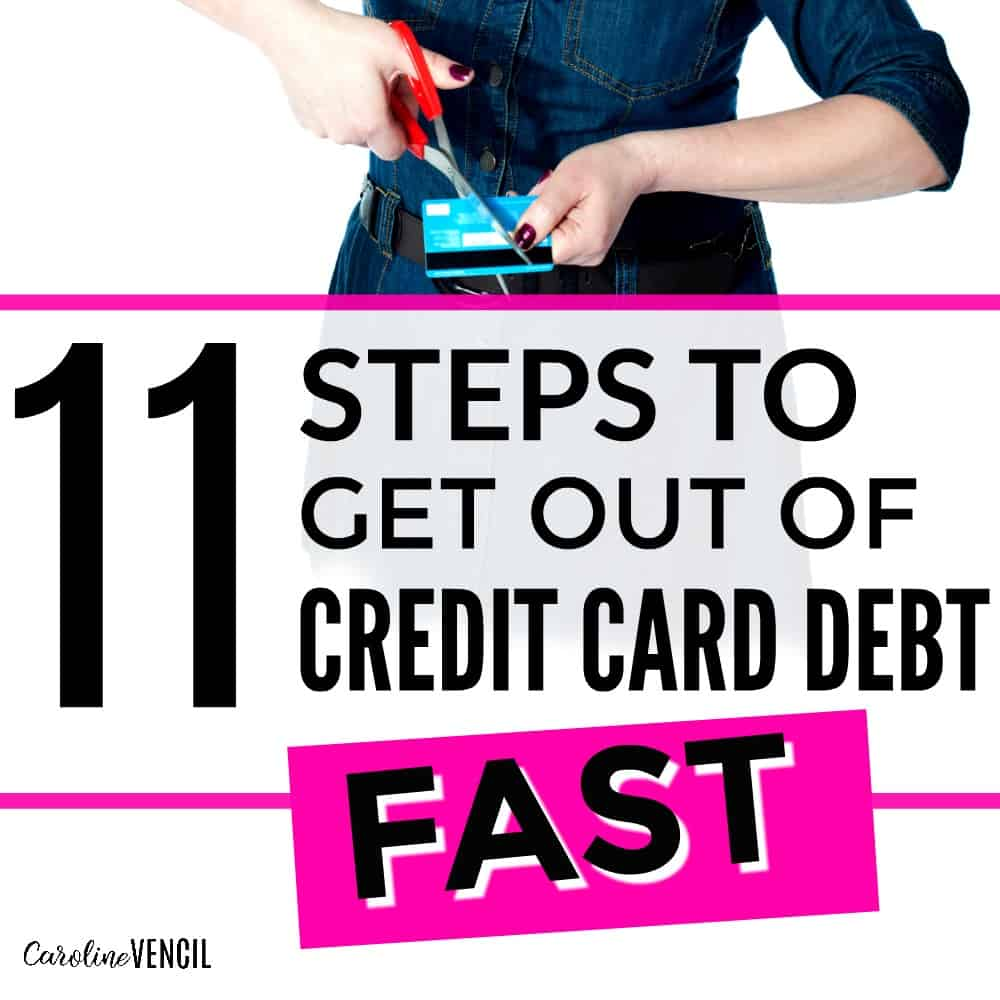 how to get rid of debt fast